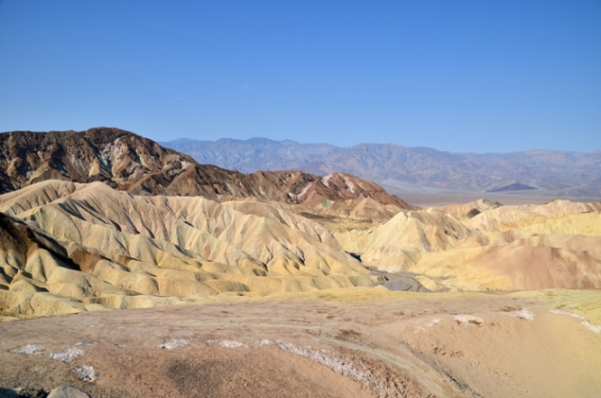 View of the badlands from Zabriskie Point
