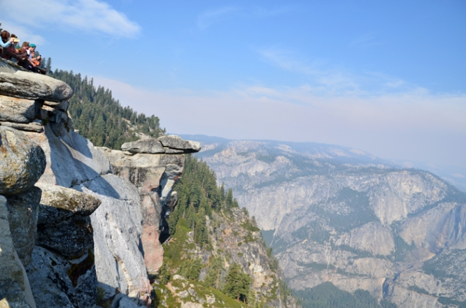 Enjoying the view from Glacier Point