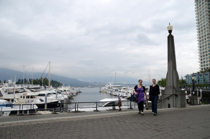 Katelyn & Monique at Coal Harbour.