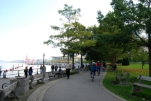 Bike path along the waterfront