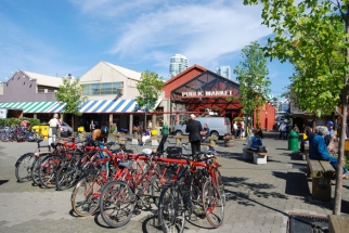 Bikes on Granville Island