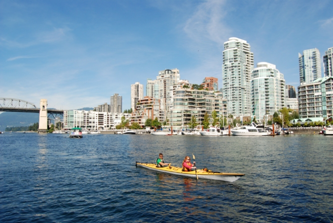 Kayakers on False Creek