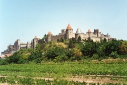 Staying in a castle at Carcassonne in France