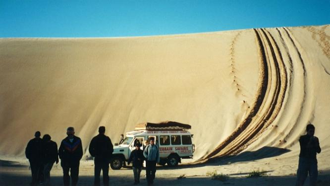 Sand duning in Western Australia