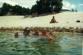 Swimming in Fraser Island's freshwater lakes
