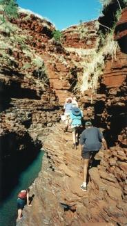 Hiking in Karijini NP, Western Australia