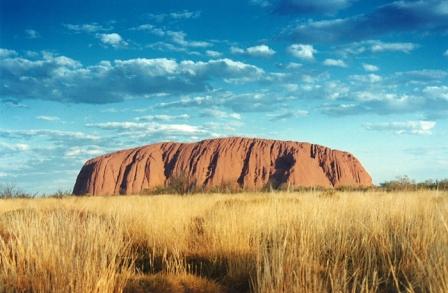Seeing the sunset at Uluru