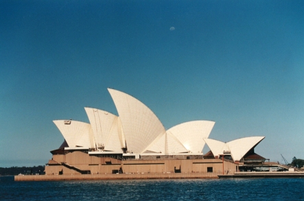 Taking a ferry in Sydney Harbour