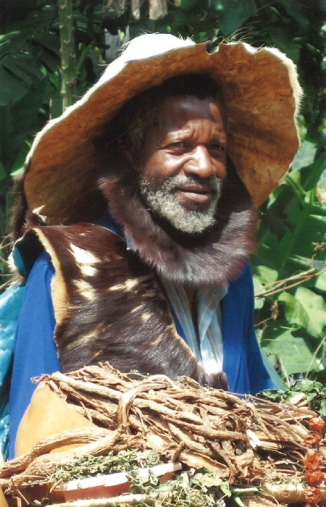 Meeting a witch-doctor in Uganda