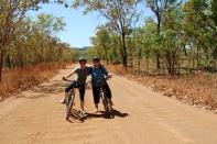 Mountain biking in Kakadu NP, Australia
