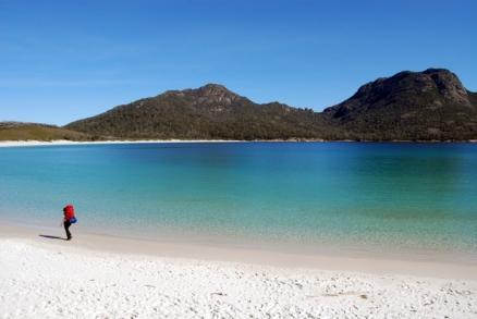 Hiking at Wineglass Bay, Tasmania