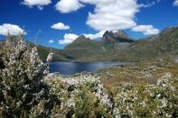 Hiking around Dove Lake at Cradle Mountain, Tasmania