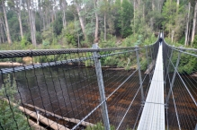 Picton River swinging bridge
