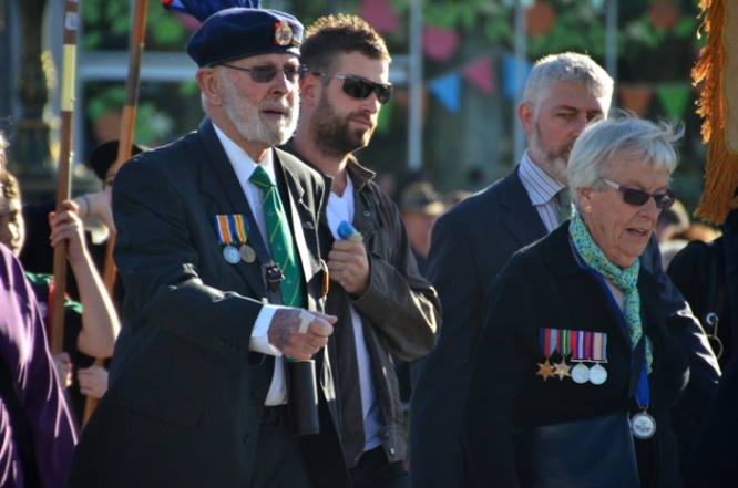 ANZAC Day March 2014