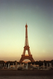 Climbing the Eiffel Tower in Paris