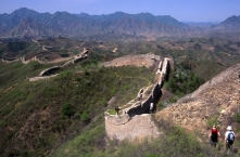 Hiking on Great Wall of China