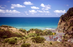 Cycling along the Great Ocean Road
