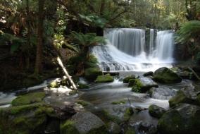 Photographing waterfalls in Mt Field NP, Tasmania