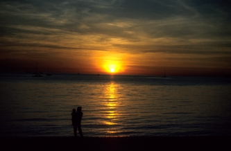 Watching sunset at Darwin Harbour, Australia