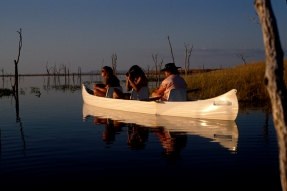 Canoeing on Lake Kariba in Zimbabwe