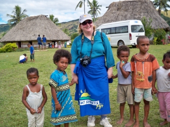 Hanging out with Fijian children