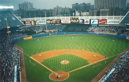 Watching baseball at Yankee Stadium in New York