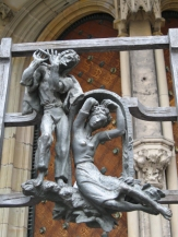 Detail of gate at St Vitus Cathedral