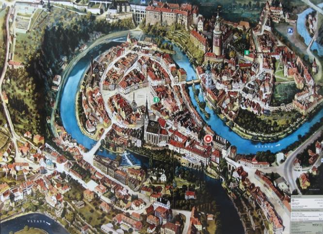Map of Český Krumlov
