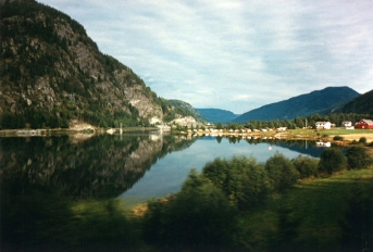 Scenery from Oslo to Bergen train journey