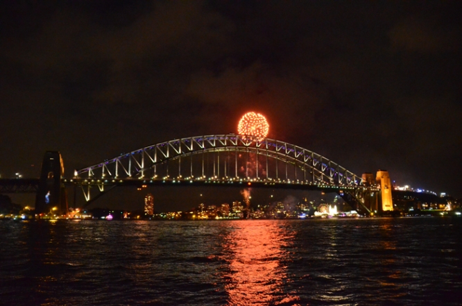 Fireworks over the Sydney Harbour Bridge