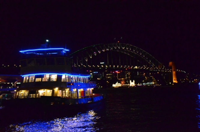 Ferry and Sydney Harbour Bridge