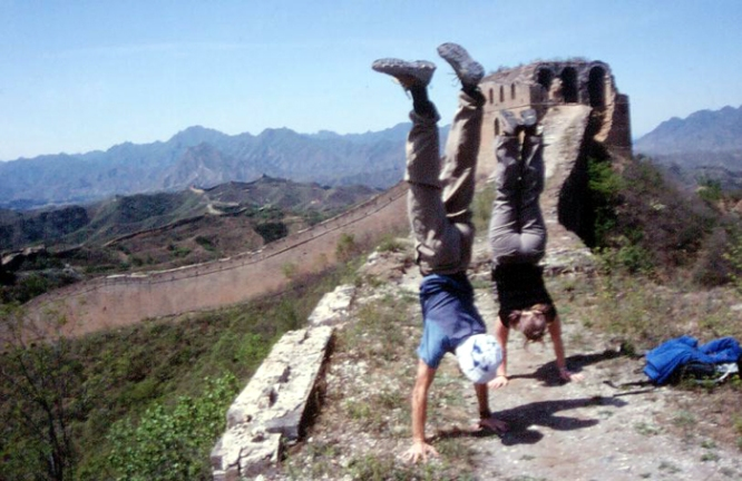 Our Intrepid guides on the Great Wall