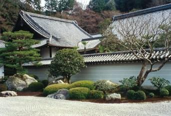 Japanese raked garden