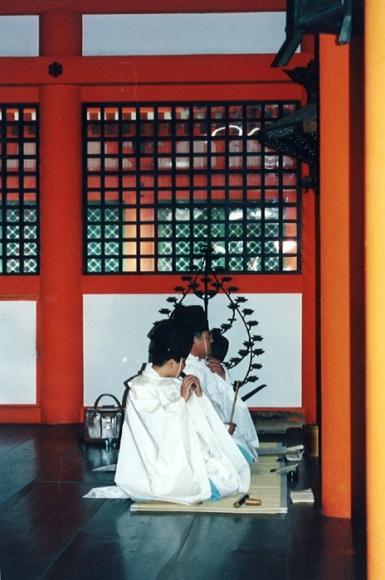 Wedding at Itsukushima Shrine