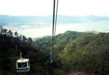 Cable car on Mt Misen