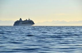 Cruise ship heading for Alaska