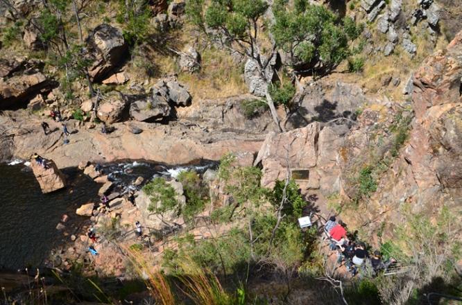 The steep track down to MacKenzie Falls