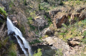 Looking down to the base of MacKenzie Falls