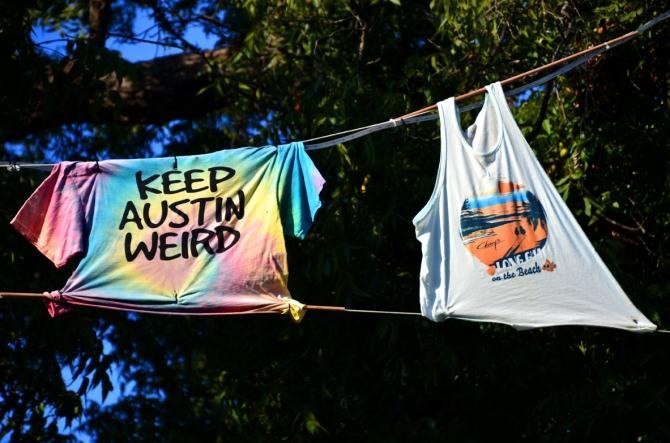 Keep Austin Weird and Chuy's t-shirts