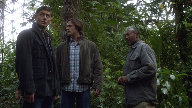 Sam and Dean meet Joshua in heaven's Garden