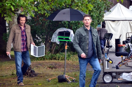 Jared and Jensen on a break