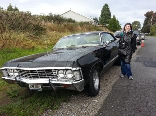Rachel with the Impala
