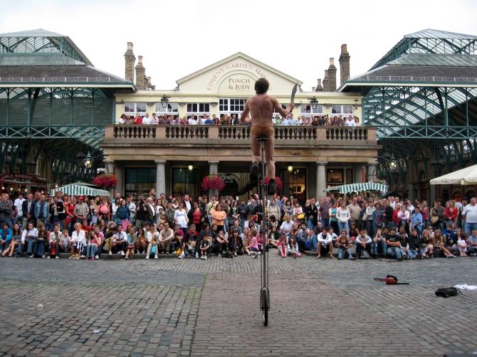 Busker at Covent Garden