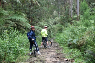 Lynn & Pete on the Walhalla Goldfields Rail Trail