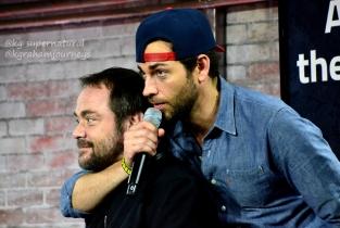 Mark Sheppard and Zach Levi