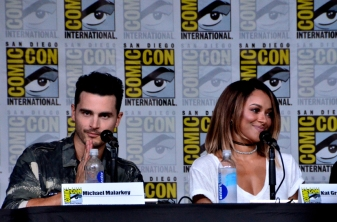 Michael Malarkey and Kat Graham