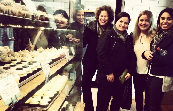 My last week at work with the girls, spoiling ourselves at Cupcake Central