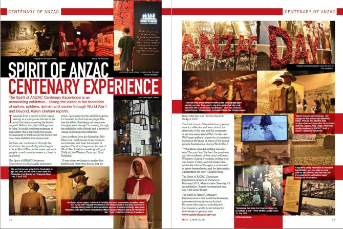 My article about the Spirit of ANZAC exhibition in the bumper issue of Mufti.